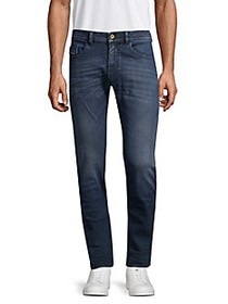 Diesel Thommer Mid-Rise Slim-Fit Stretch Jeans