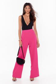 Nasty Gal Pink Suits You Wide-Leg Pants