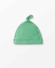 Hanna Andersson Top Knot Beanie In Organic Cotton