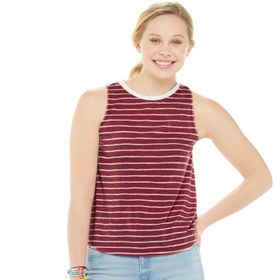 Juniors' SO® Ringer Muscle Tank Top