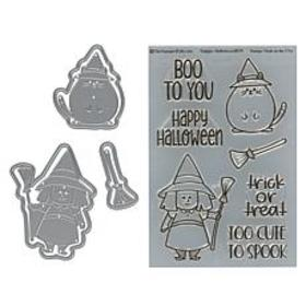 Stamps of Life Halloween Cat and Witch Pudgie Stam