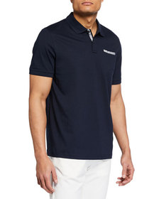 Michael Kors Men's Ribbon-Trim Pocket Polo Shirt