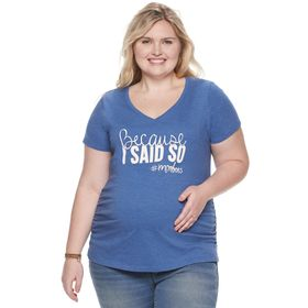 Maternity a:glow™ Essential Short Sleeve V-neck Te