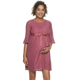 Maternity a:glow™ Lace Bell-Sleeve Dress