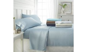 Soft Essentials 100% Bamboo 4Pc Luxury Bed Sheet S