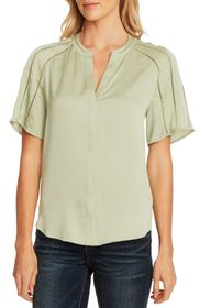 Vince Camuto Crochet Detail Rumple Satin Blouse