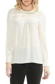 Vince Camuto Pintuck Yoke Top