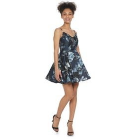 Juniors' Speechless Floral Fit & Flare Dress with