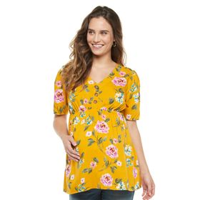 Maternity a:glow™ Button Placket Top