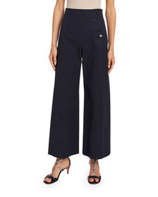 Chloe High-Rise Button-Finished Crop Jeans
