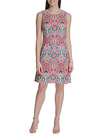 Tommy Hilfiger Bolero Paisley Shift Dress SKY GREE