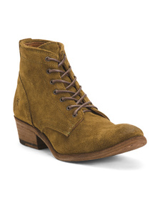 FRYE Suede Lace Up Boots