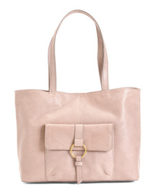 FRYE Madison Harness Ring Leather Tote
