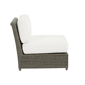 Suzanne Kasler Versailles Armless Lounge Chair wit