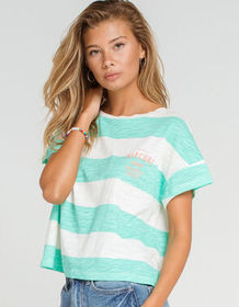 RIP CURL Frothing Womens Teal & White Tee