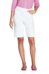 Lands End Women's High Rise Pull On Bermuda Jean S