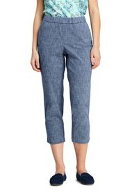 Lands End Women's Mid Rise Curvy Pull On Chino Cha