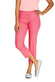 Lands End Women's Mid Rise Pull On Chino Crop Pant