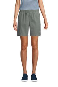 """Lands End Women's Pull On 7"""" Chino Shorts"""