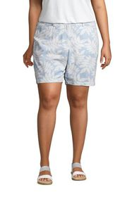 """Lands End Women's Plus Size Mid Rise 7"""" Chino Seer"""