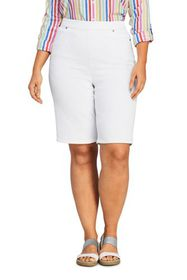 Lands End Women's Plus Size High Rise Pull On Berm