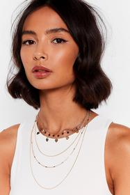 Nasty Gal Gold Heart and Soul Layered Charm Neckla