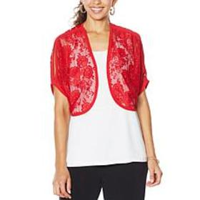 """""""As Is"""" Colleen Lopez Lace Bolero Topper"""