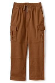 Lands End Boys Iron Knee Stretch Pull On Cargo Pan