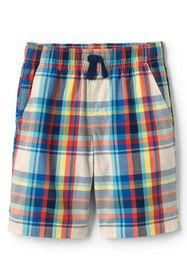 Lands End Boys Plaid Pull On Shorts