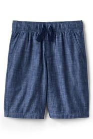 Lands End Boys Chambray Pull On Shorts