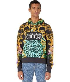 Versace Jeans Couture Leo Chain Print Hooded Sweat