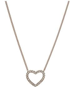 Fossil Vintage Glitz Open Heart Necklace