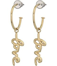 Fossil Love Collection Stainless Steel Hoop Earrin