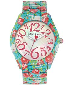 Betsey Johnson Printed Rose Watch