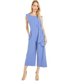 Tahari by ASL Side Tie Stretch Crepe Leg Jumpsuit