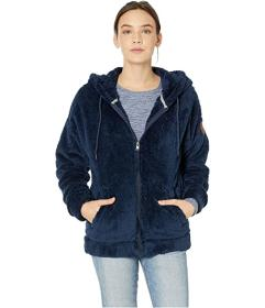 Roxy Head On Down Sherpa Zip-Up Hoodie