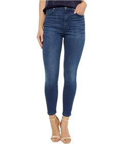 7 For All Mankind High-Waist Ankle Skinny in Dark
