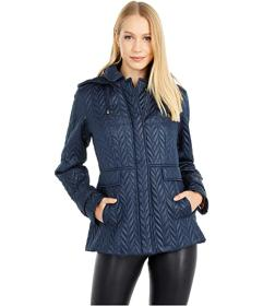 Kate Spade New York Chevron Quilted Coat
