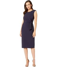 Tahari by ASL Sleeveless Crepe Sheath w\u002F Side