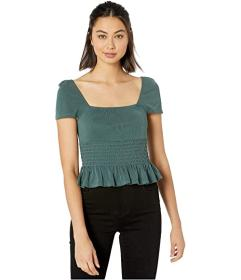 BCBGeneration Square Neck Short Sleeve Knit Top TH