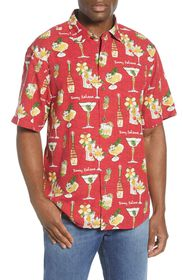 Tommy Bahama Merry Martini Short Sleeve Button-Up