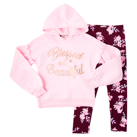 Girls (4-6x) One Step Up Blessed & Beautiful Print