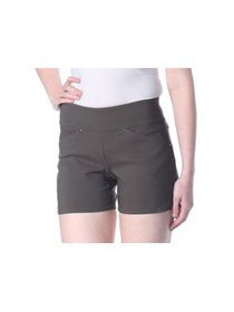 D.F.A. NEW YORK Womens Green Shorts Petites Size: