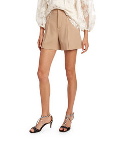 Chloe Wool Crepe Shorts