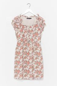 Nasty Gal White Grow Strings Attached Floral Mini