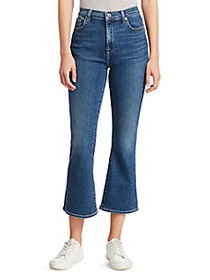 7 For All Mankind High-Rise Cropped Slim Kick Jean