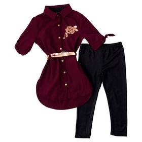Girls (4-6x) One Step 2pc. Solid Belted Tunic and