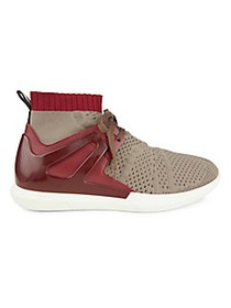 Bally Avallo Knit & Leather Sock Sneakers