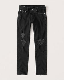 Ripped Super Skinny Jeans, RIPPED BLACK