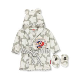 Fisher-Price Baby Boys' Hooded Robe and Slippers S
